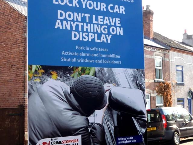CRIME REDUCTION SIGNAGE