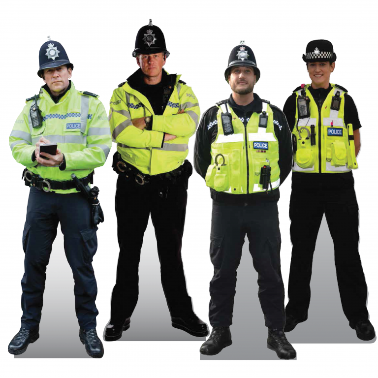 Cut-out Cops Signs